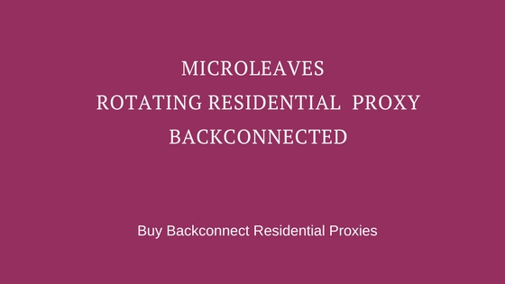 Residential Rotating Proxies