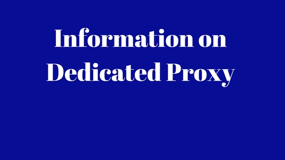 Buy Dedicated Private Proxy