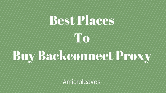 Buy Backconnect Proxy
