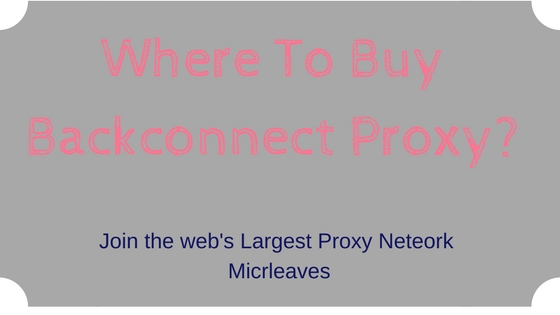 Where To Buy Backconnect Proxy?