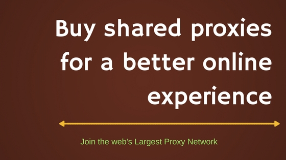 Why buy shared proxies?