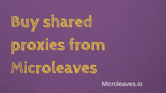 microleaves Buy shared proxies