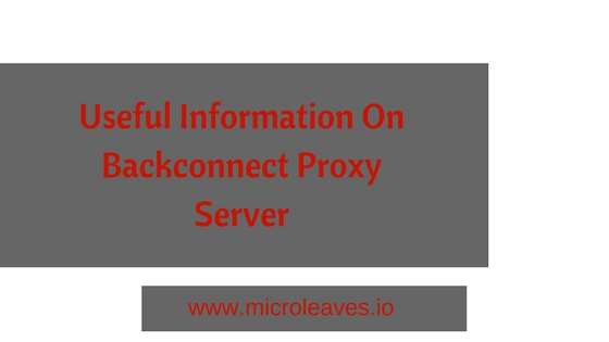 backconnect proxy server