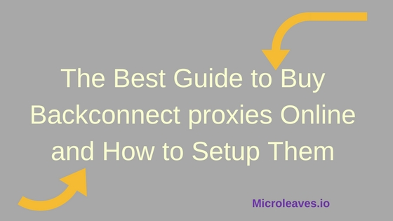 Buy Backconnect proxies Online