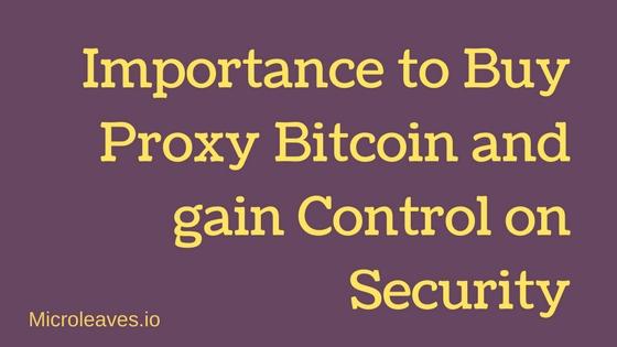 proxy bitcoin
