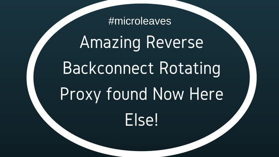 Reverse Backconnect Rotating Proxy
