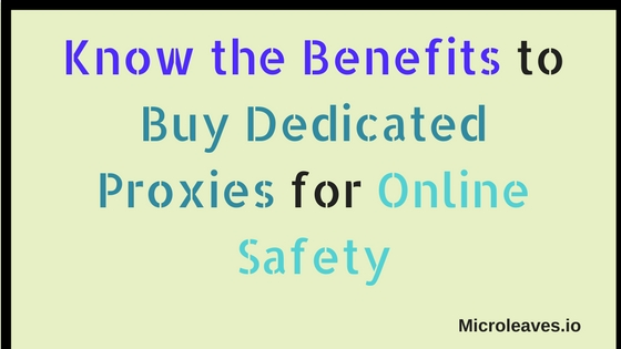 buy dedicated proxies for online